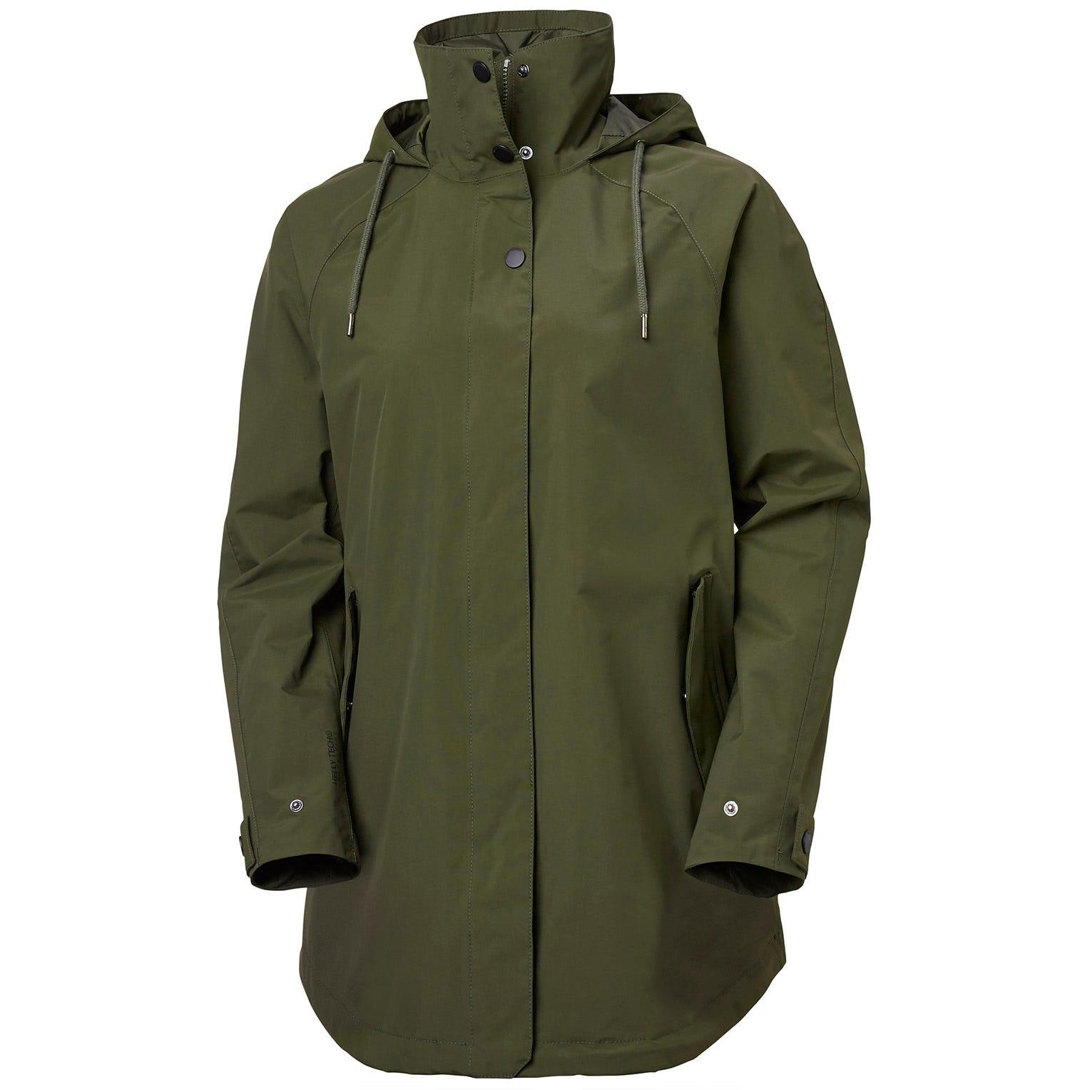 Womens Valentia Windproof Raincoat | Uk Helly Hansen Womens Rain Jacket Green XL