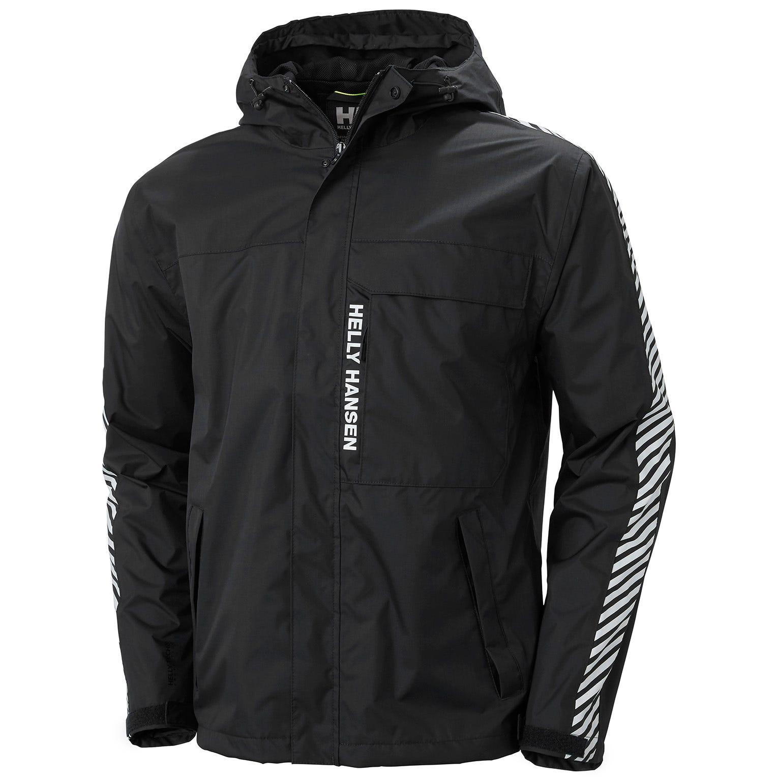 Helly Hansen Mens Vector Packable Summer Rain Jacket Black M