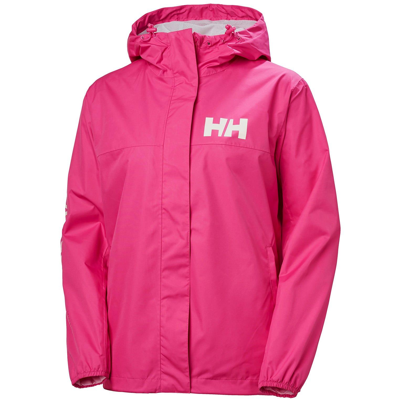 Helly Hansen Womens Ervik Waterproof Shell Jacket Pink M