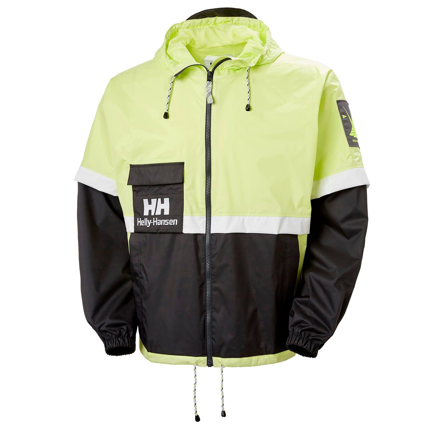 Helly Hansen Mens Yu20 Fully Waterproof Rain Jacket Green S