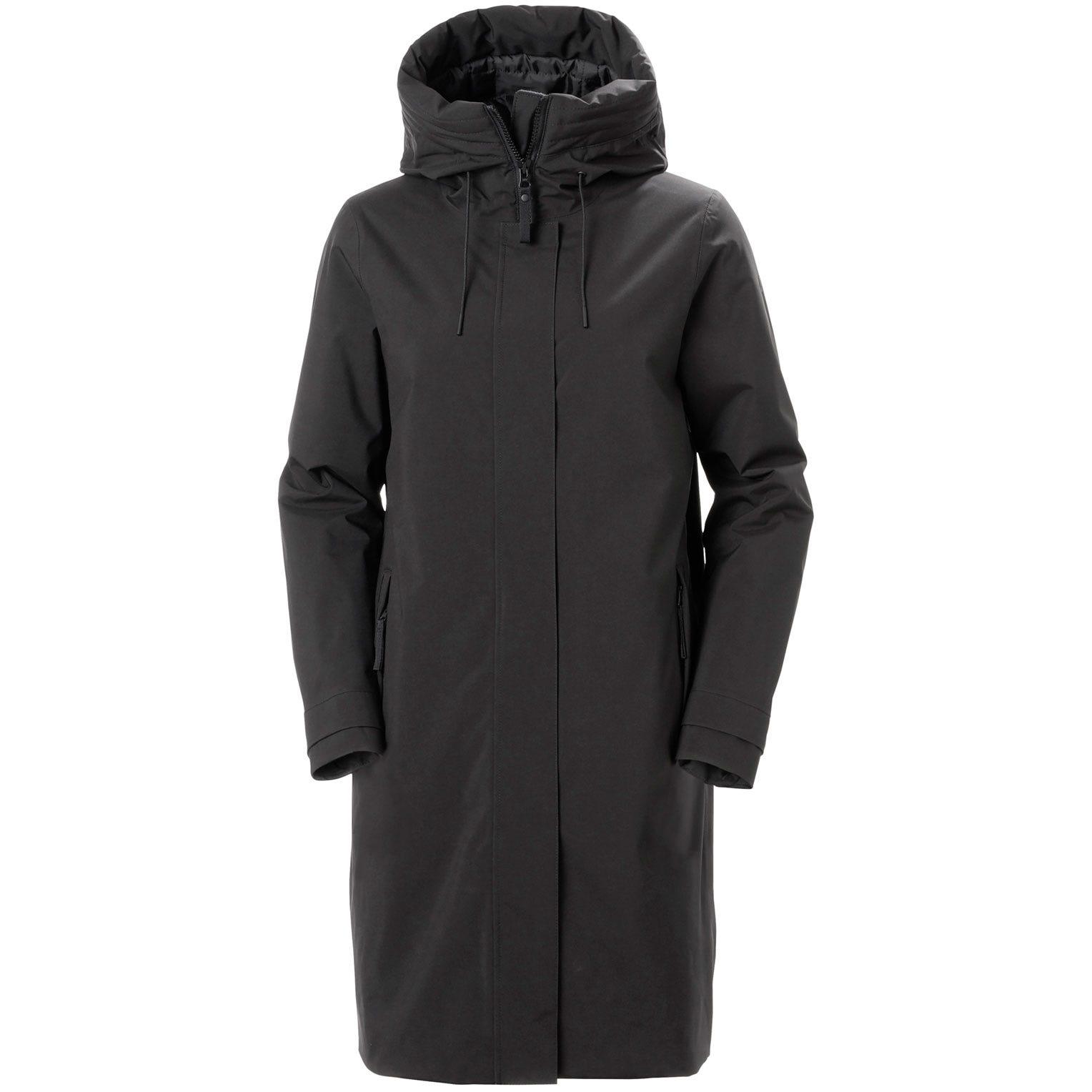 Helly Hansen Womens Victoria Insulated Rain Coat Parka Black S
