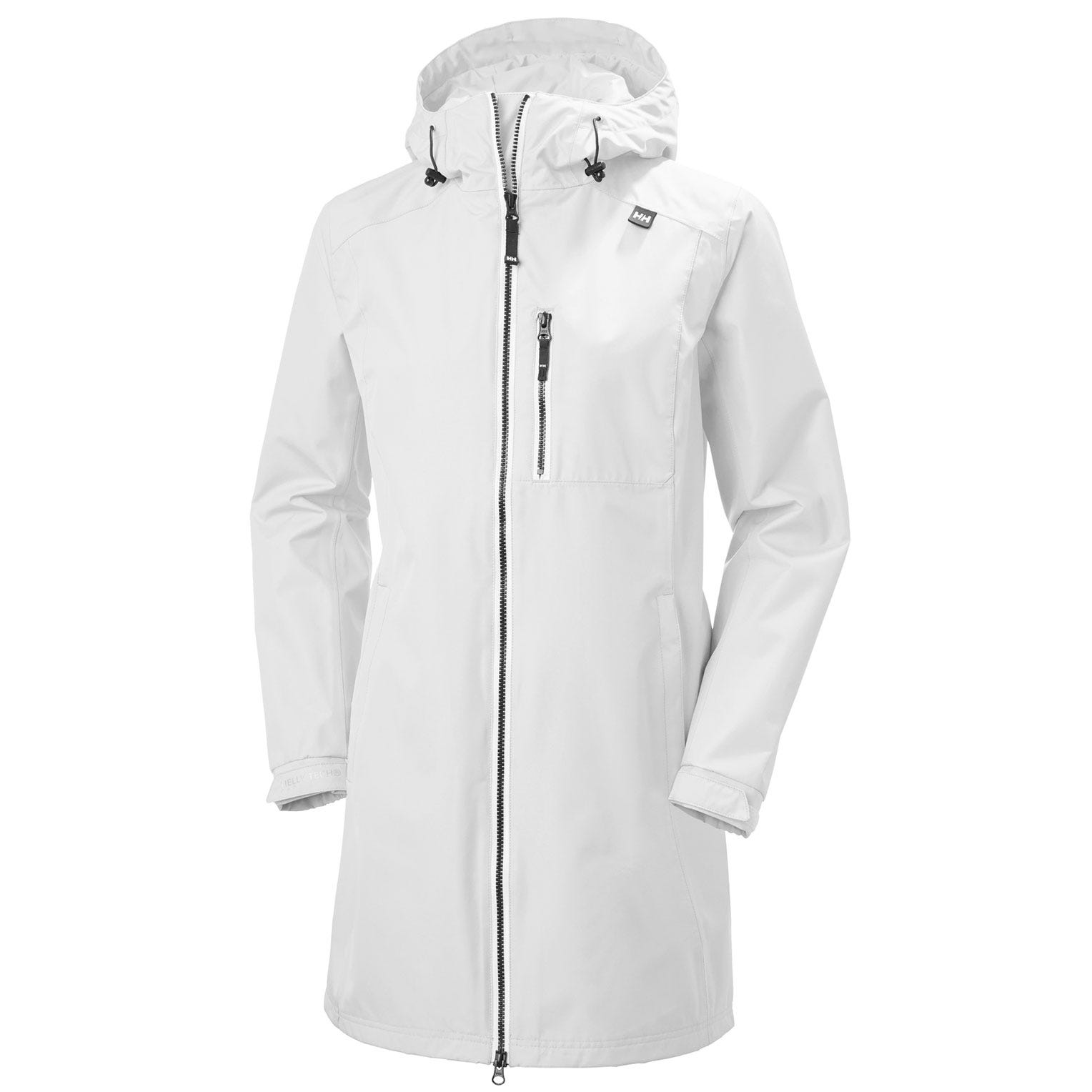 Helly Hansen Womens Long Belfast Rain Jacket White XS