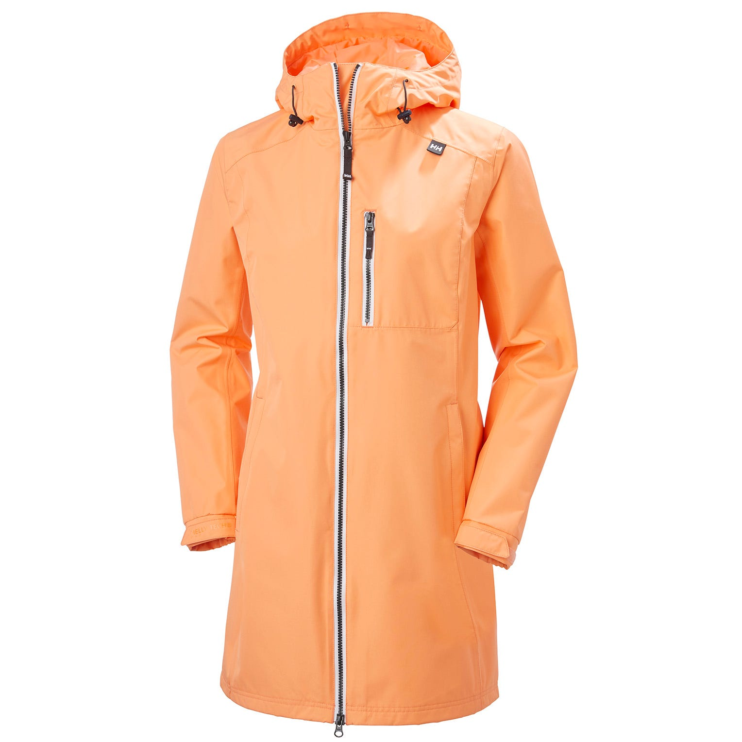 Womens Long Belfast 3/4 Length Rain Jacket | Helly Hansen Womens Orange XL