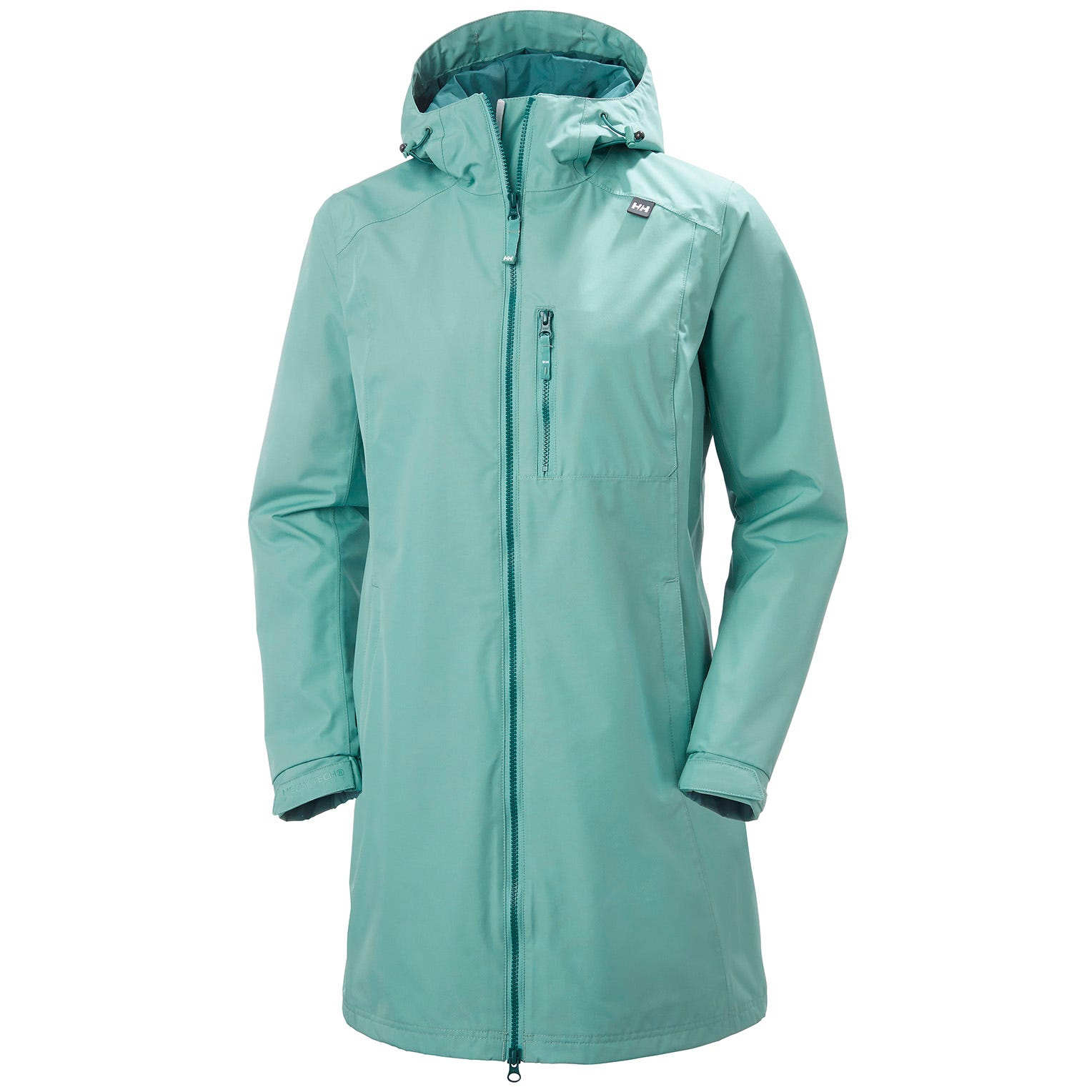 Helly Hansen Womens Long Belfast Rain Jacket Blue M