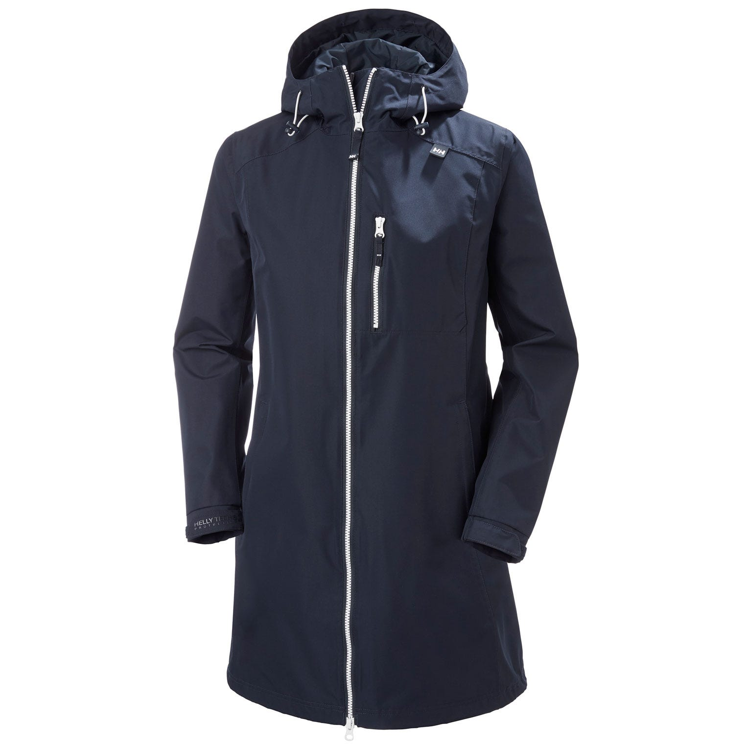 Womens Long Belfast 3/4 Length Rain Jacket | Helly Hansen Womens Navy XS