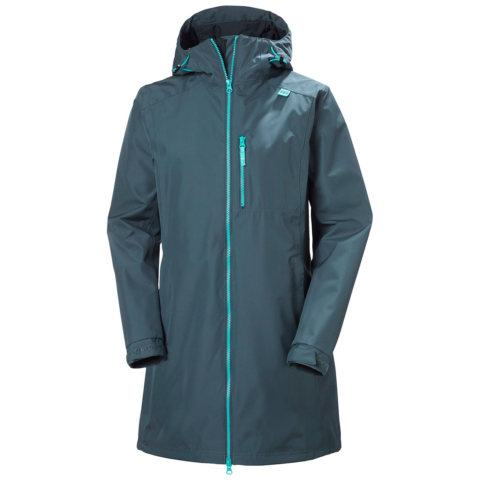 Womens Long Belfast 3/4 Length Rain Jacket | Helly Hansen Womens XS