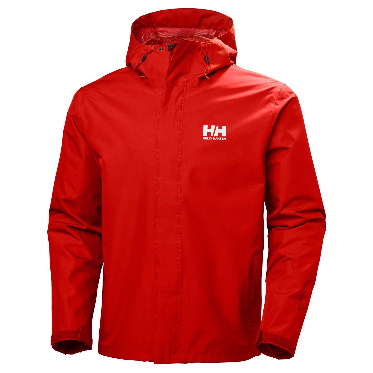 Helly Hansen Seven J Jacket Mens Rain Red M