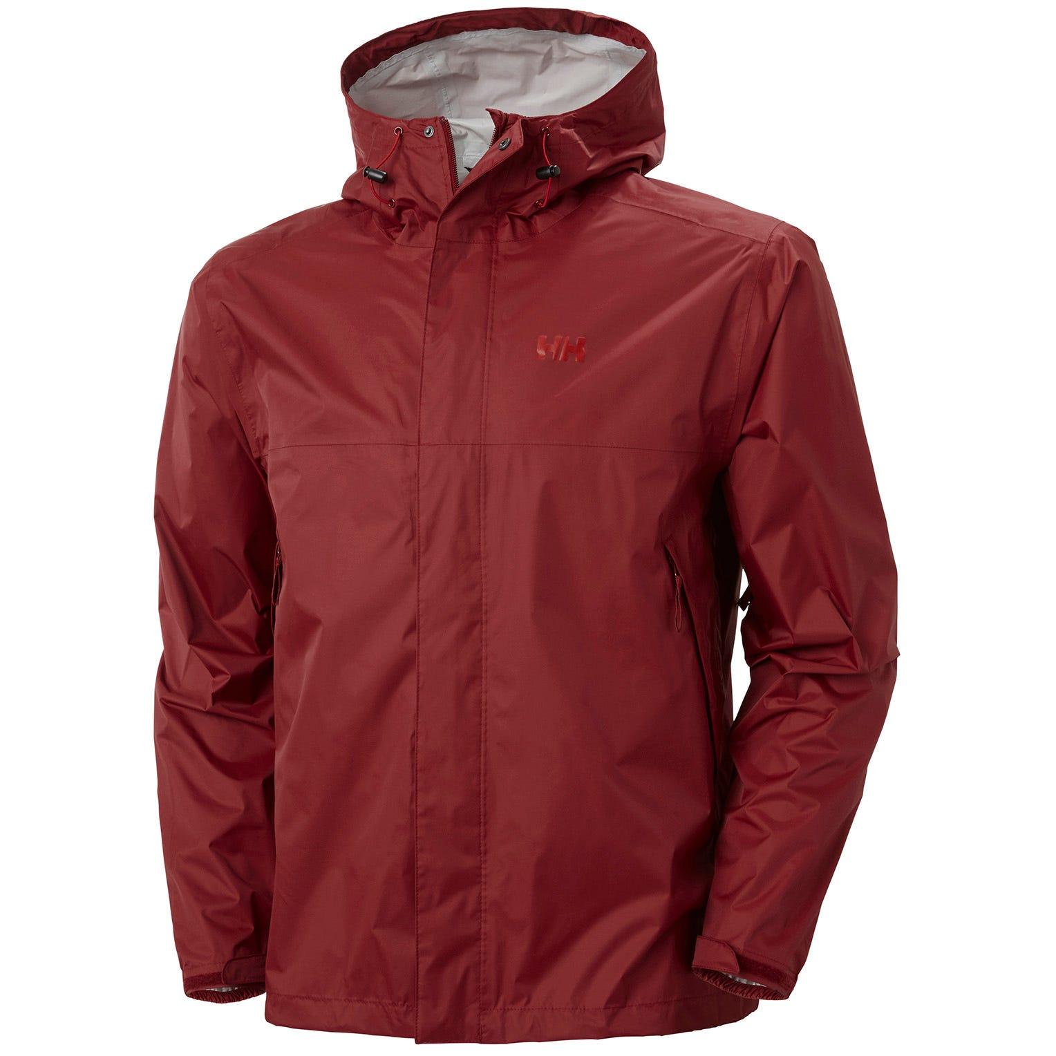 Mens Loke Waterproof Hooded Jacket | Uk Helly Hansen Mens Hiking Red L