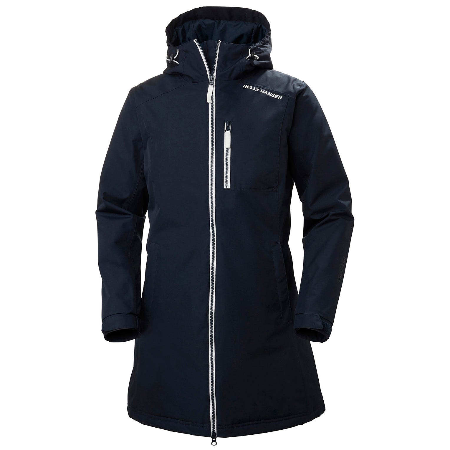Womens Long Belfast Insulated Winter Jacket | Helly Hansen Womens Parka Navy XS