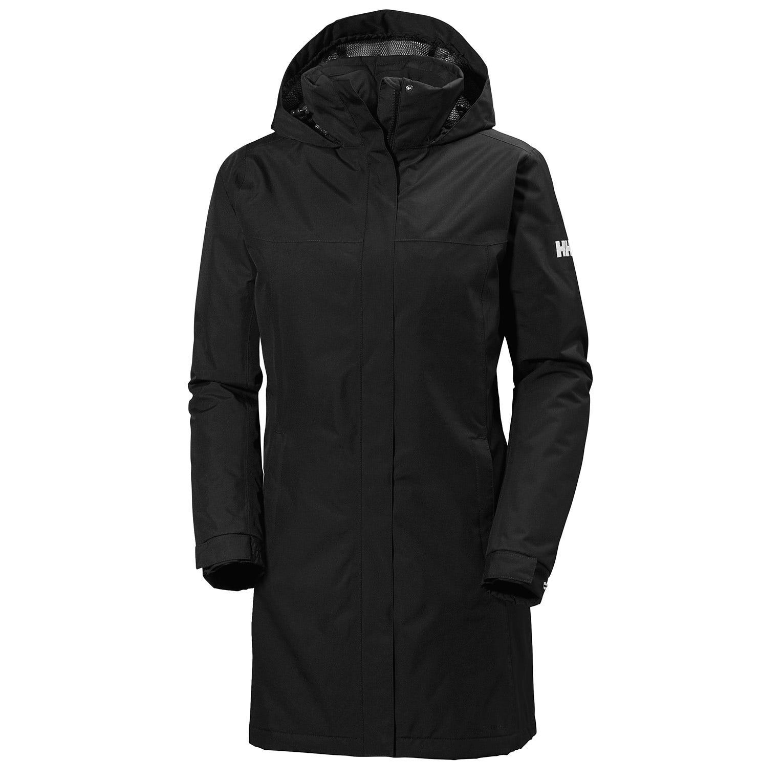 Womens Aden Long Insulated Rain Coat | Helly Hansen Womens Parka Black L