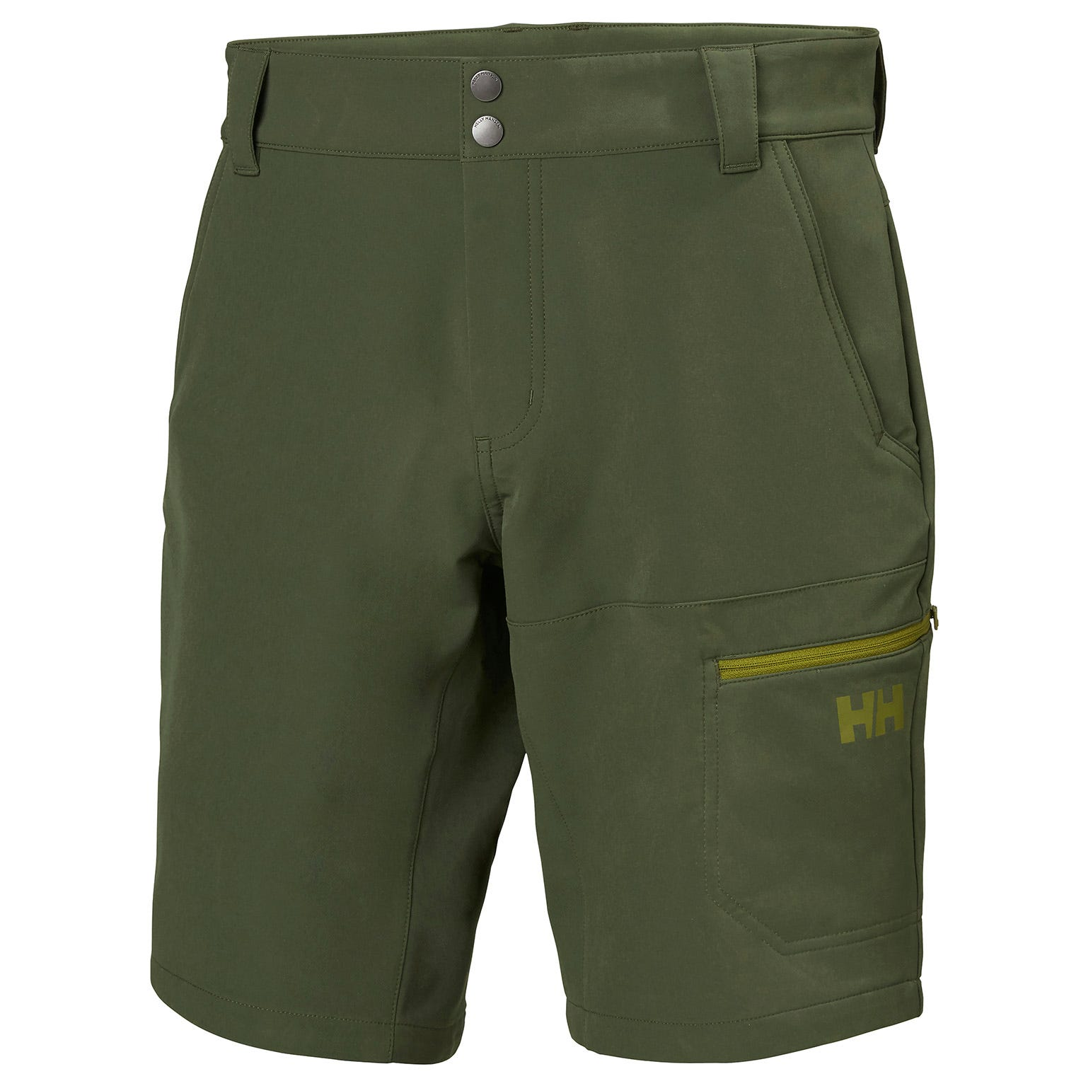 Brono Shorts | Water-repellant Softshell Gb Helly Hansen Mens Hiking Trouser Green XXL