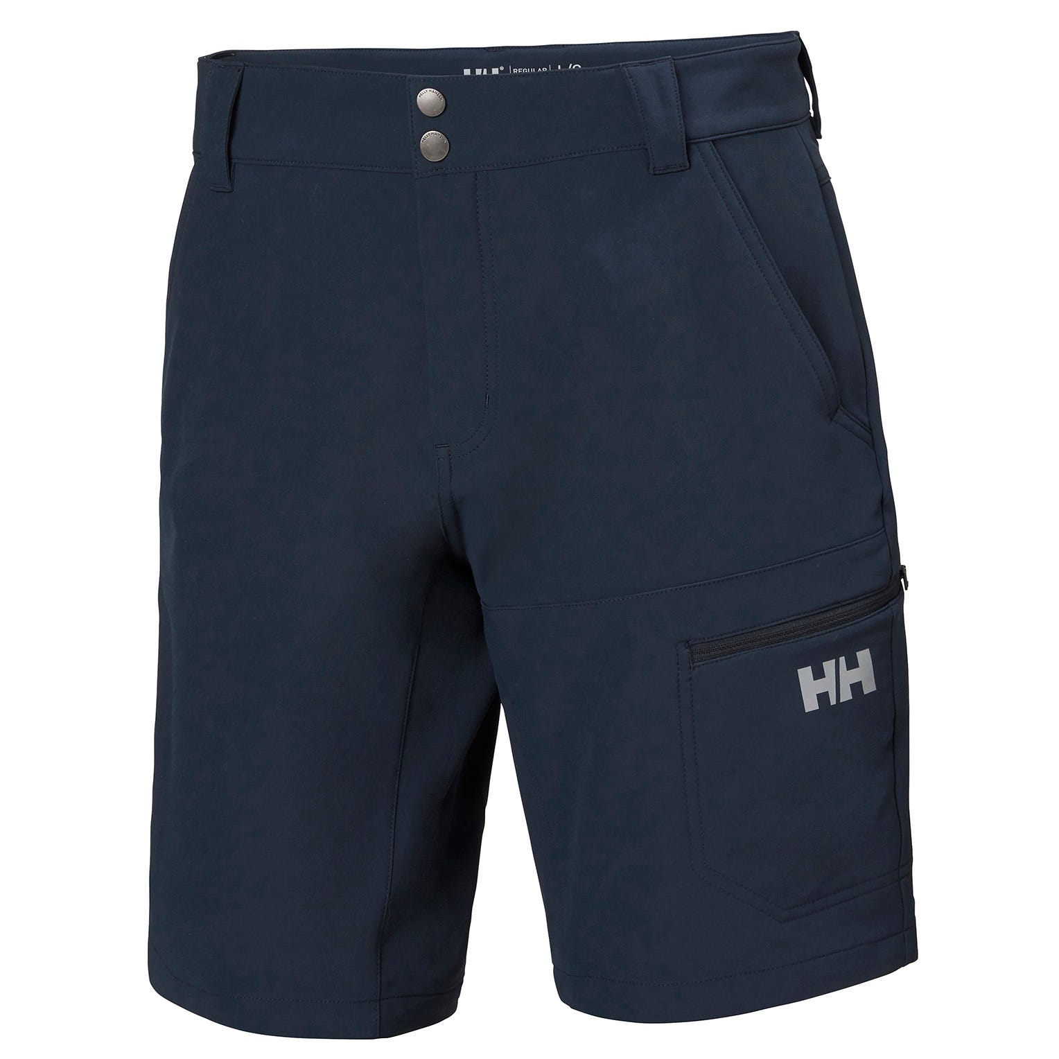 Mens Brono Water-repellent Softshell Shorts | Helly Hansen Mens Hiking Trouser Navy L