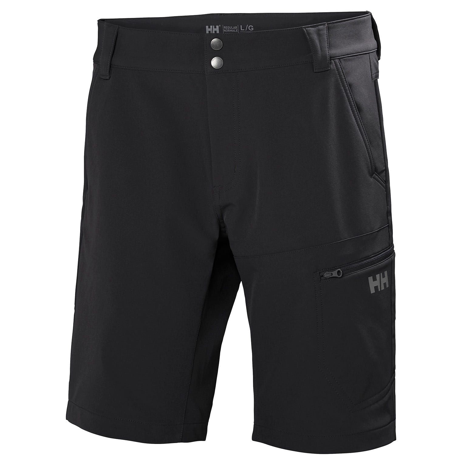 Brono Shorts | Water-repellant Softshell Gb Helly Hansen Mens Hiking Trouser Black S