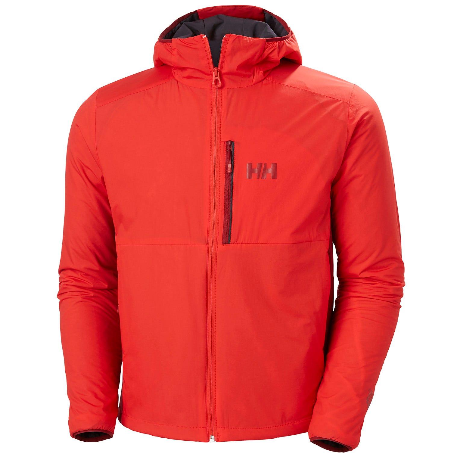 Helly Hansen Odin Stretch Hooded Light Insulator Mens Hiking Jacket Red XXL