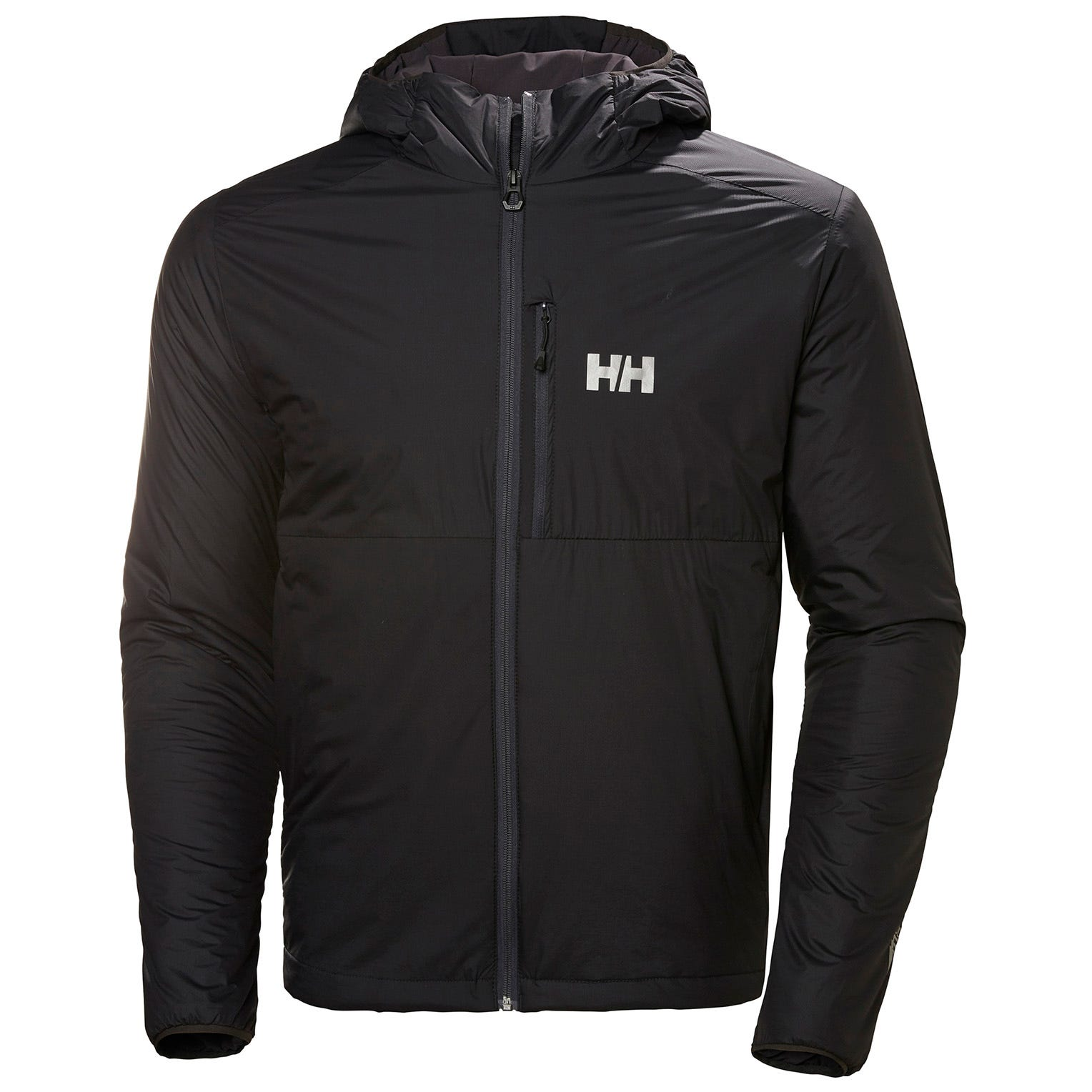 Helly Hansen Odin Stretch Hooded Light Insulator Mens Hiking Jacket Black L