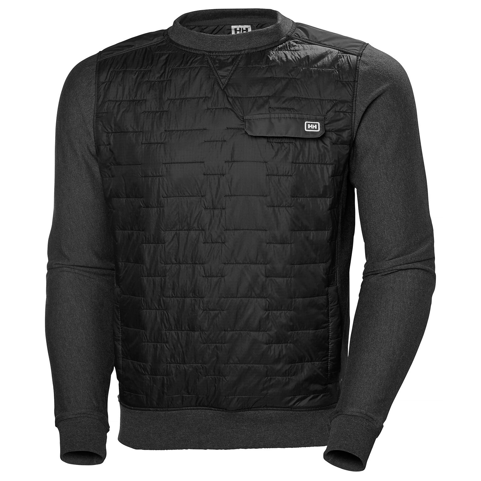 Helly Hansen Mens Movatn Wool Insulated Sweater vandrarjacka Svart S