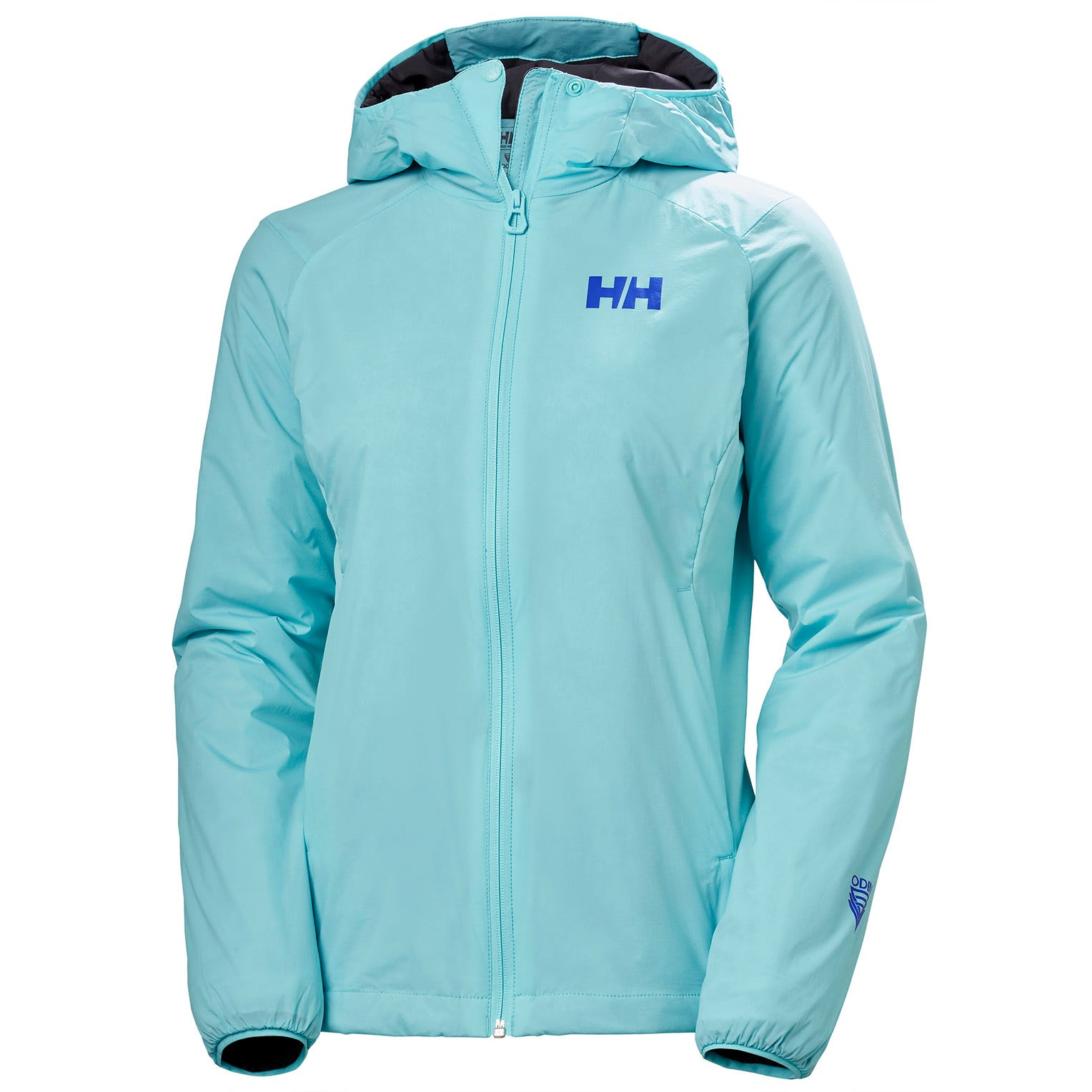 Helly Hansen W Odin Stretch Hooded Light Insulator Womens Hiking Jacket Blue L