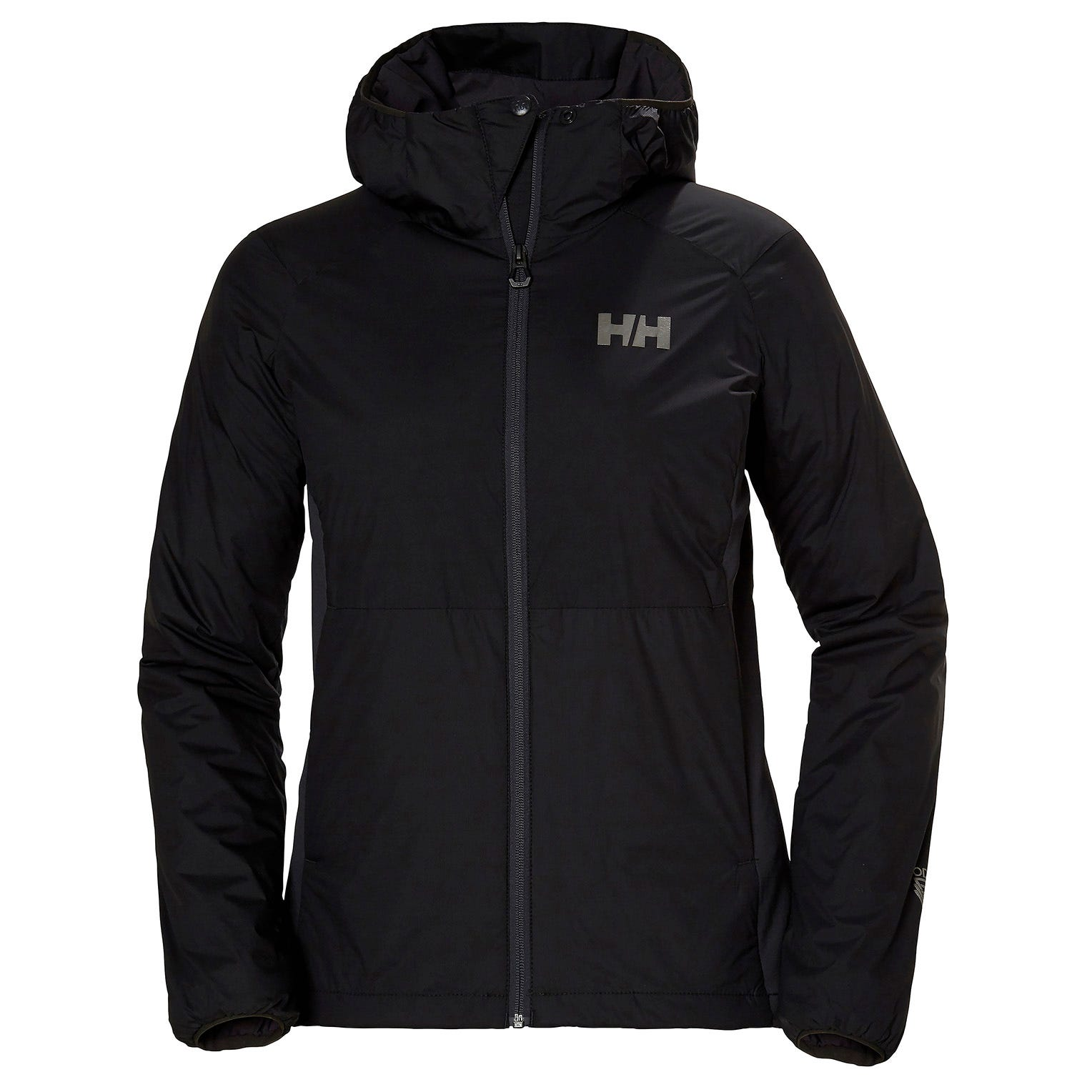 Helly Hansen W Odin Stretch Hooded Light Insulator Womens Hiking Jacket Black L