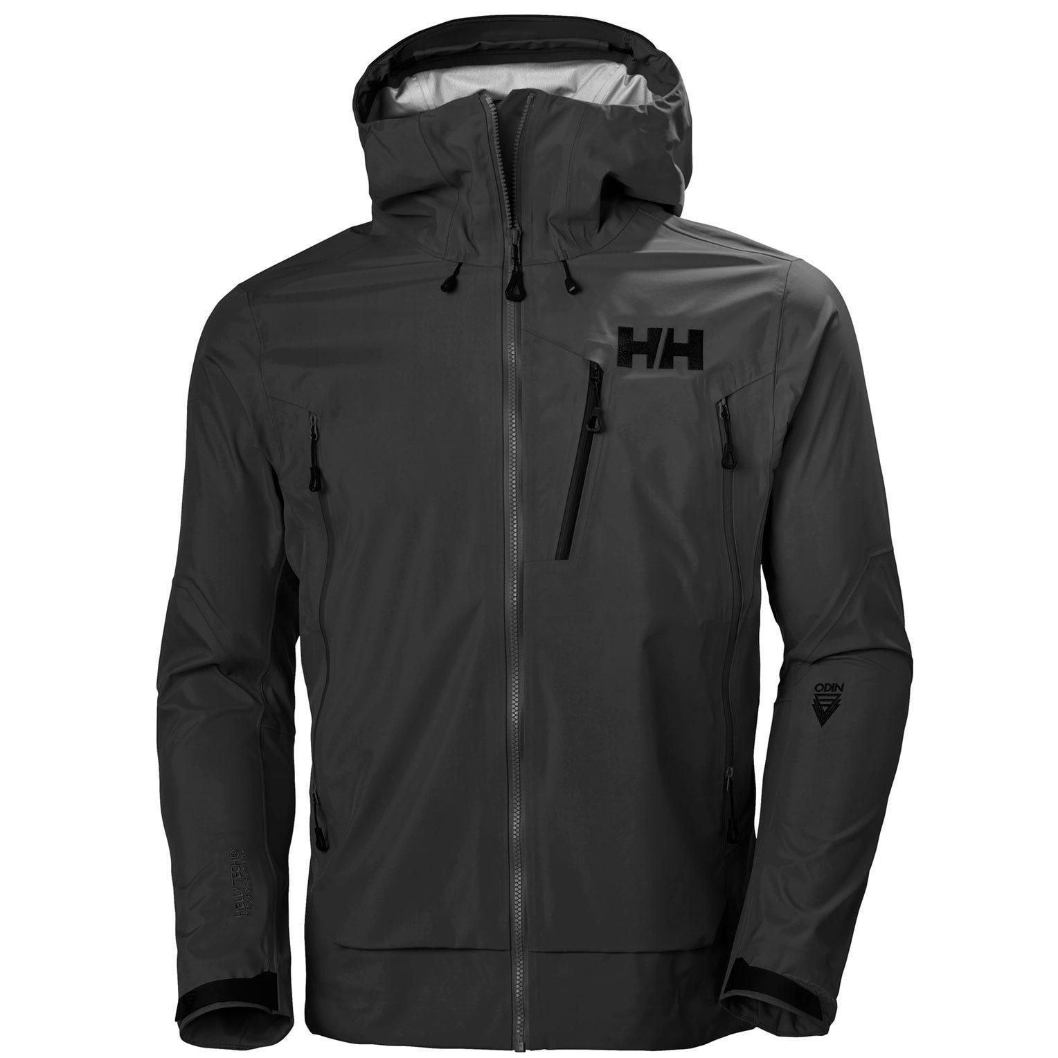 Helly Hansen Mens Odin 9 Worlds 2.0 Shell Jacket - Mountain Black XXL