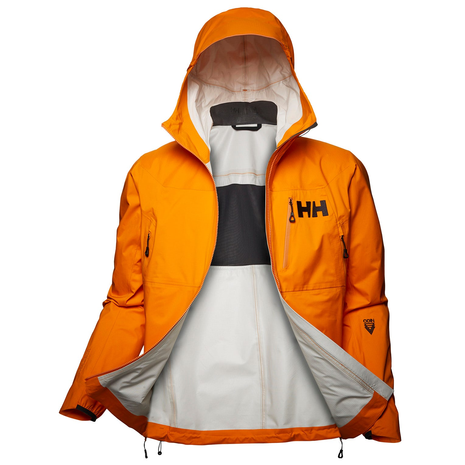 Mens Odin 3d Air Shell Lightweight Jacket | Uk Helly Hansen Mens Hiking Orange M