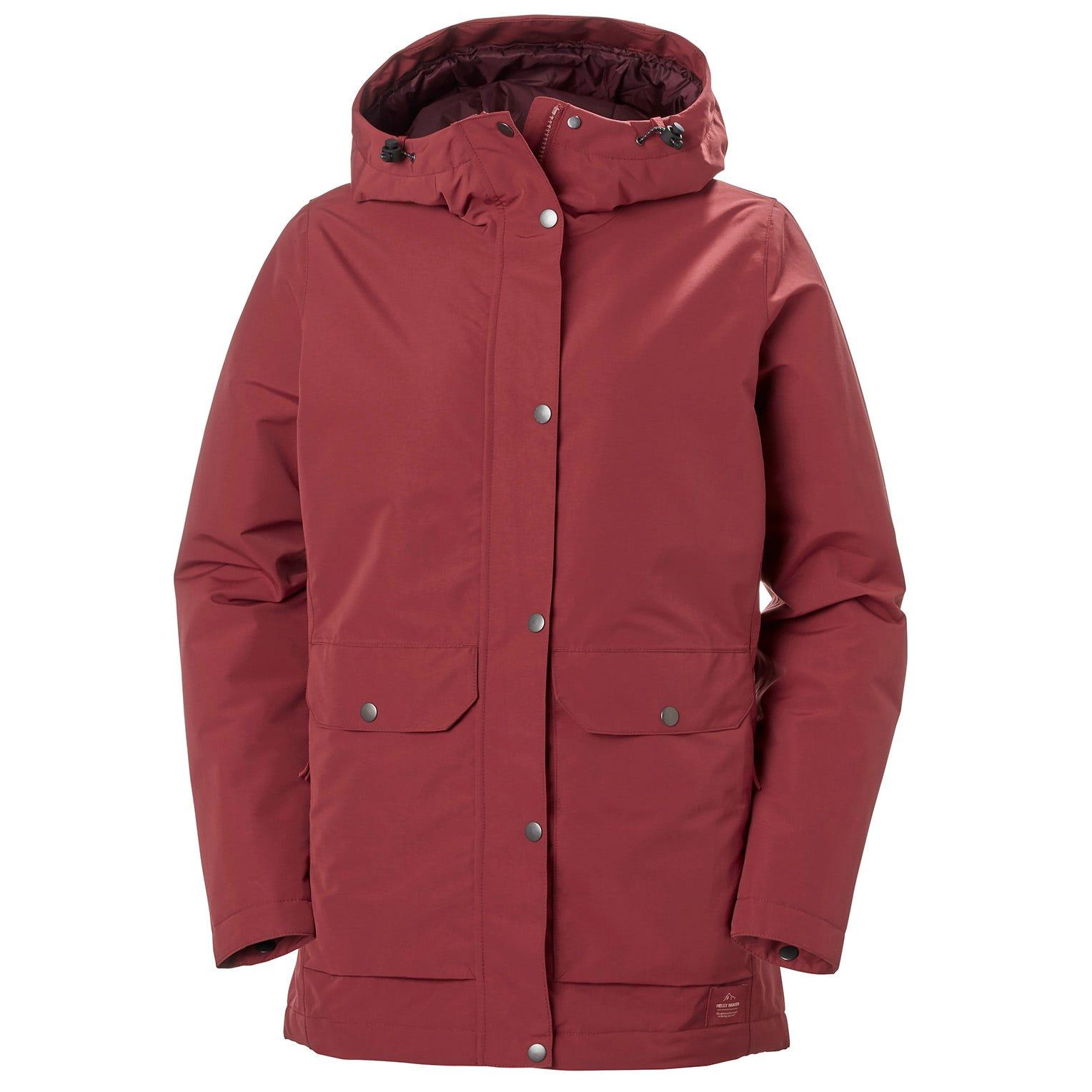 Womens Hovin Insulated Waterproof Jacket   Uk Helly Hansen Womens Hiking Red M