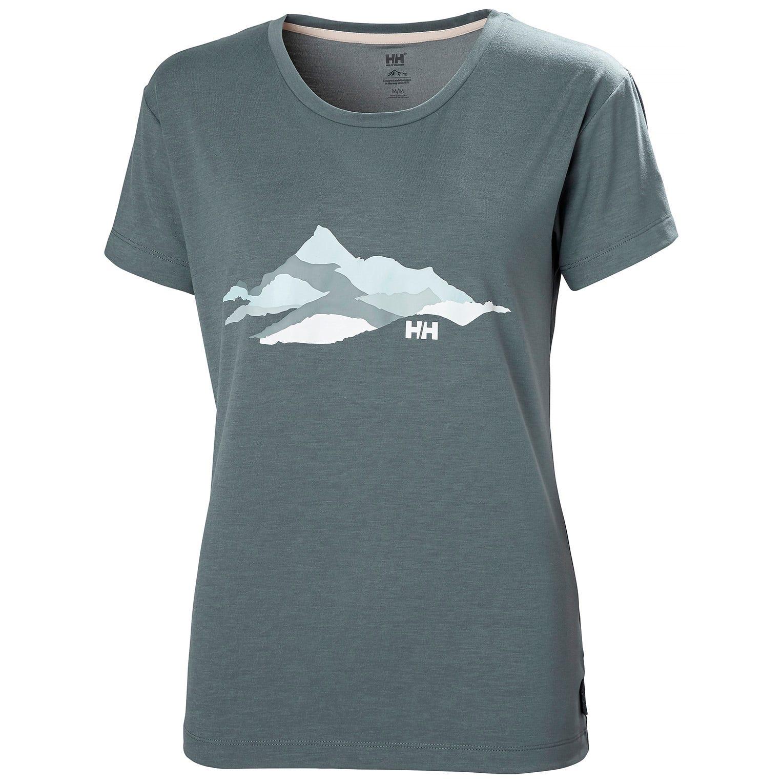 Helly Hansen Womens Skog Recycled Graphic Jersey Tshirt   M