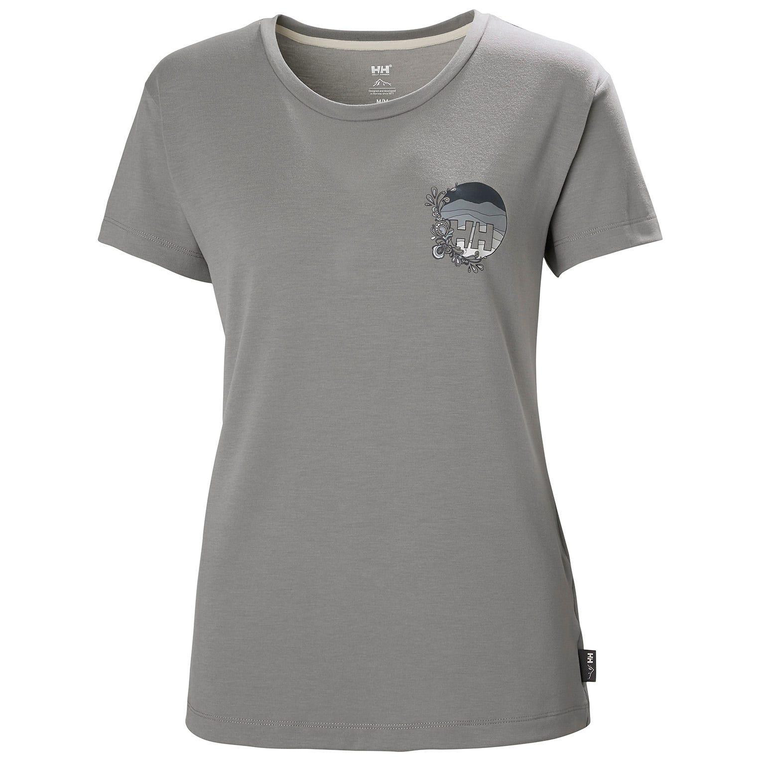 Helly Hansen Womens Skog Recycled Graphic Jersey Tshirt   S