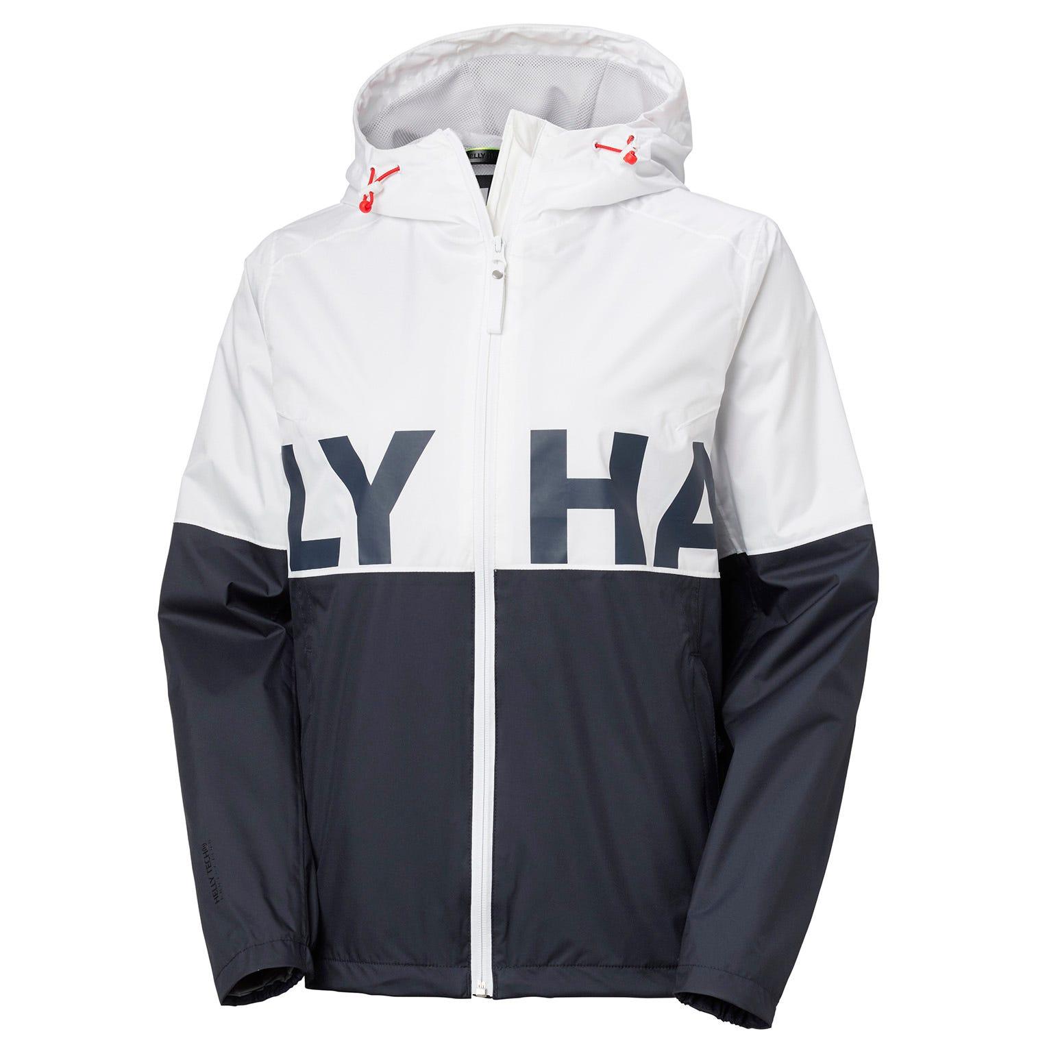 Helly Hansen Womens Amuze 90s Inspired Rain Jacket White M