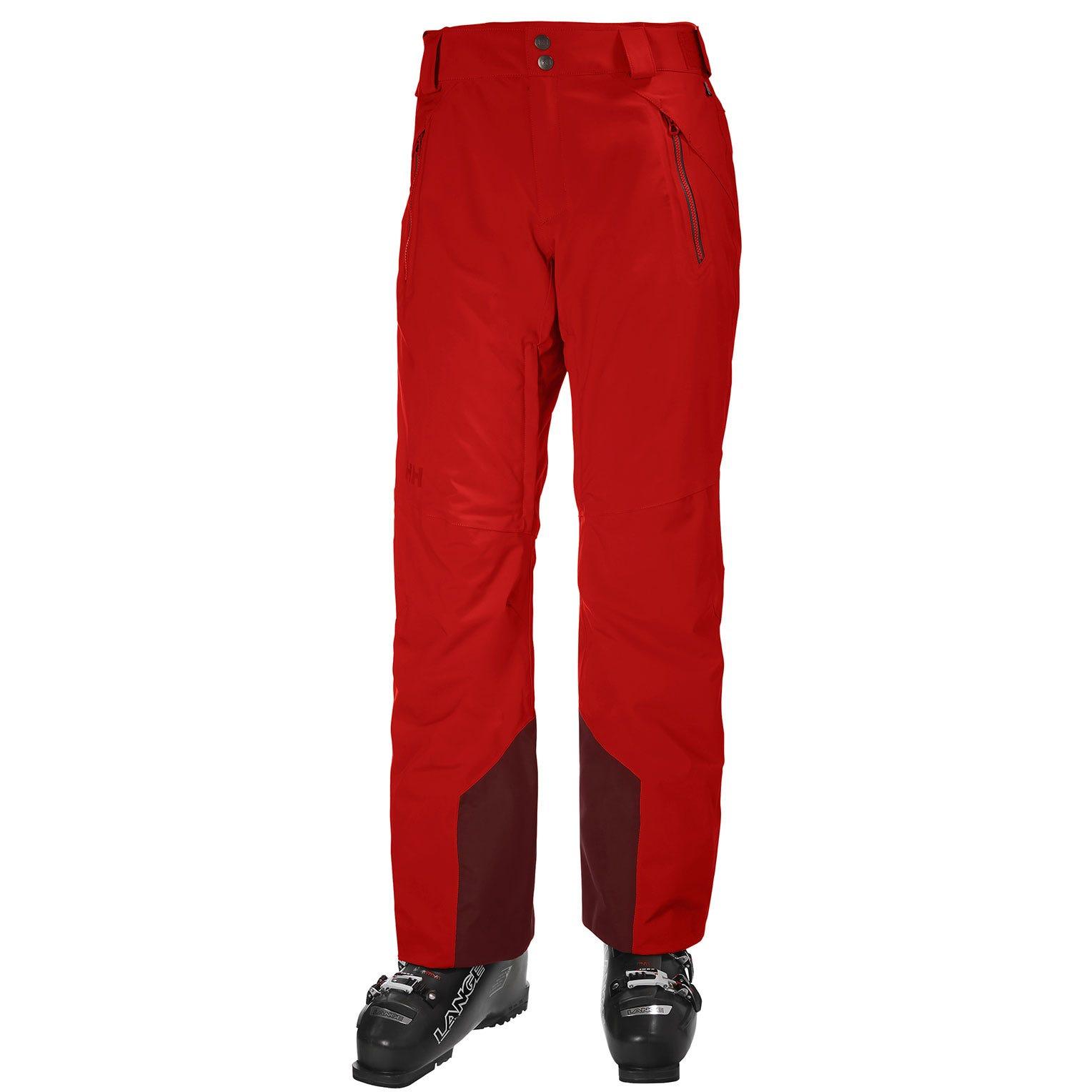 Helly Hansen Mens Force Ski Trouser Red S