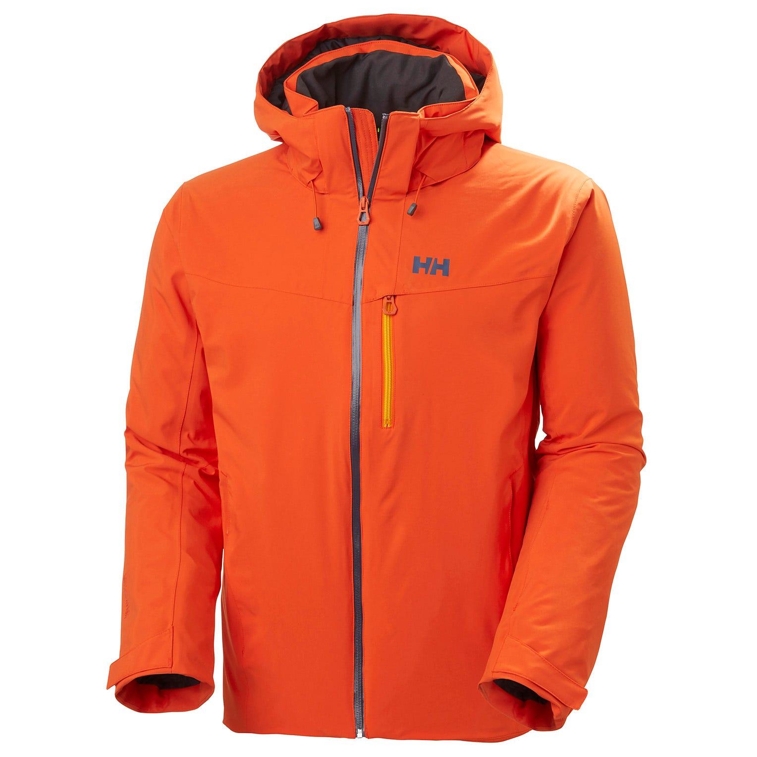 Mens Swift 4.0 Waterproof Resort Ski Jacket | Helly Hansen Mens Orange XXXL