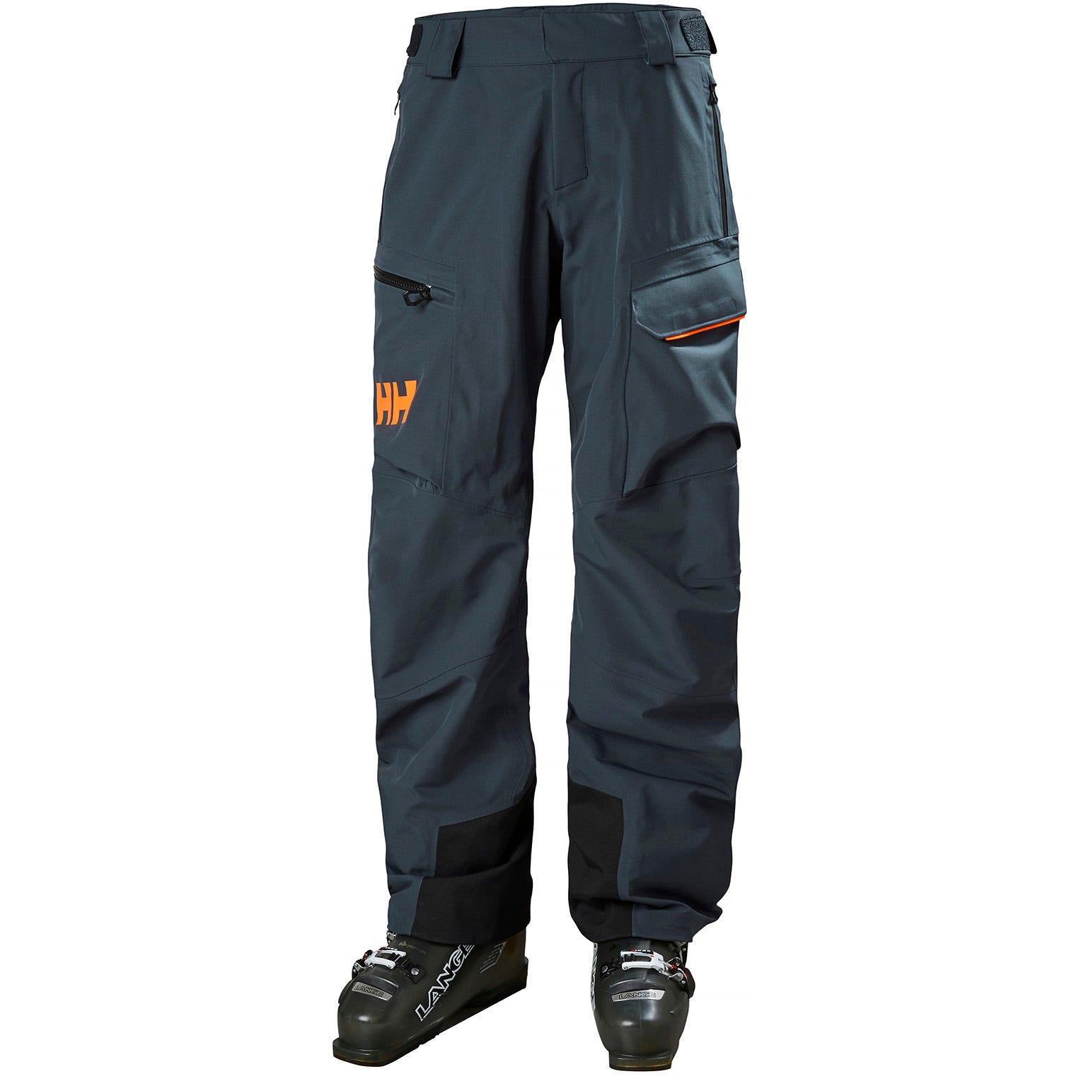 Helly Hansen Mens Ridge Shell Durable Ski Trousers Grey XL