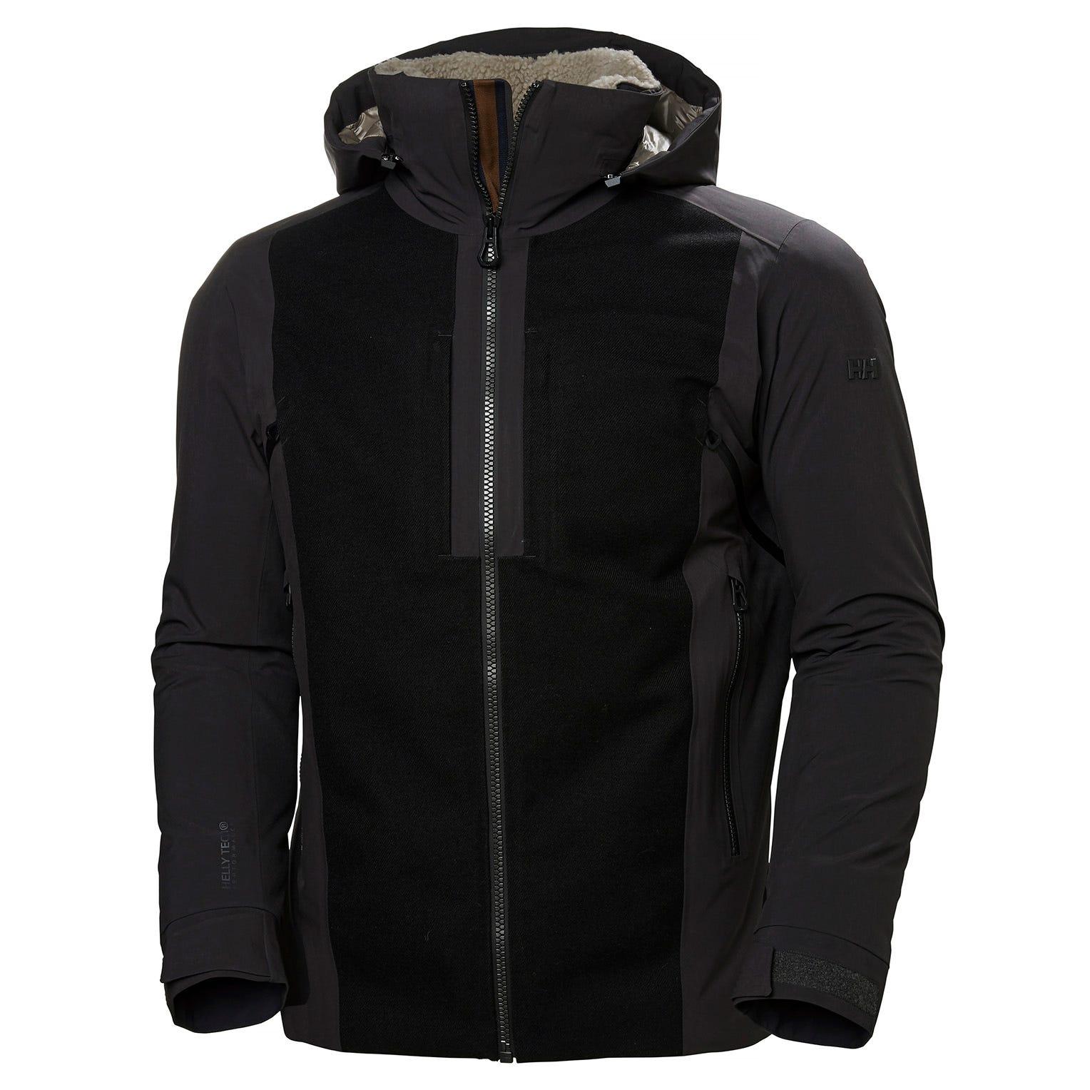 Helly Hansen Mens Hero Hooded Ski Jacket Black S