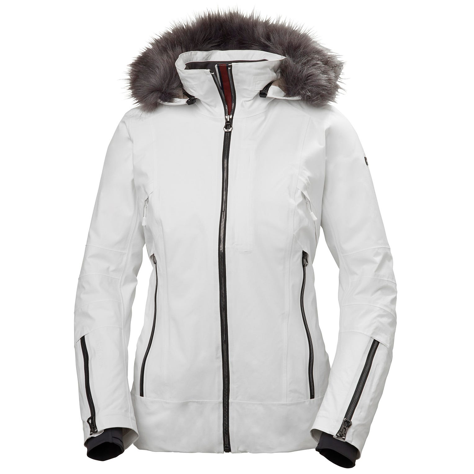 Womens Snowdancer Ski Jacket With Faux Fur Hood | Helly Hansen Womens White XL