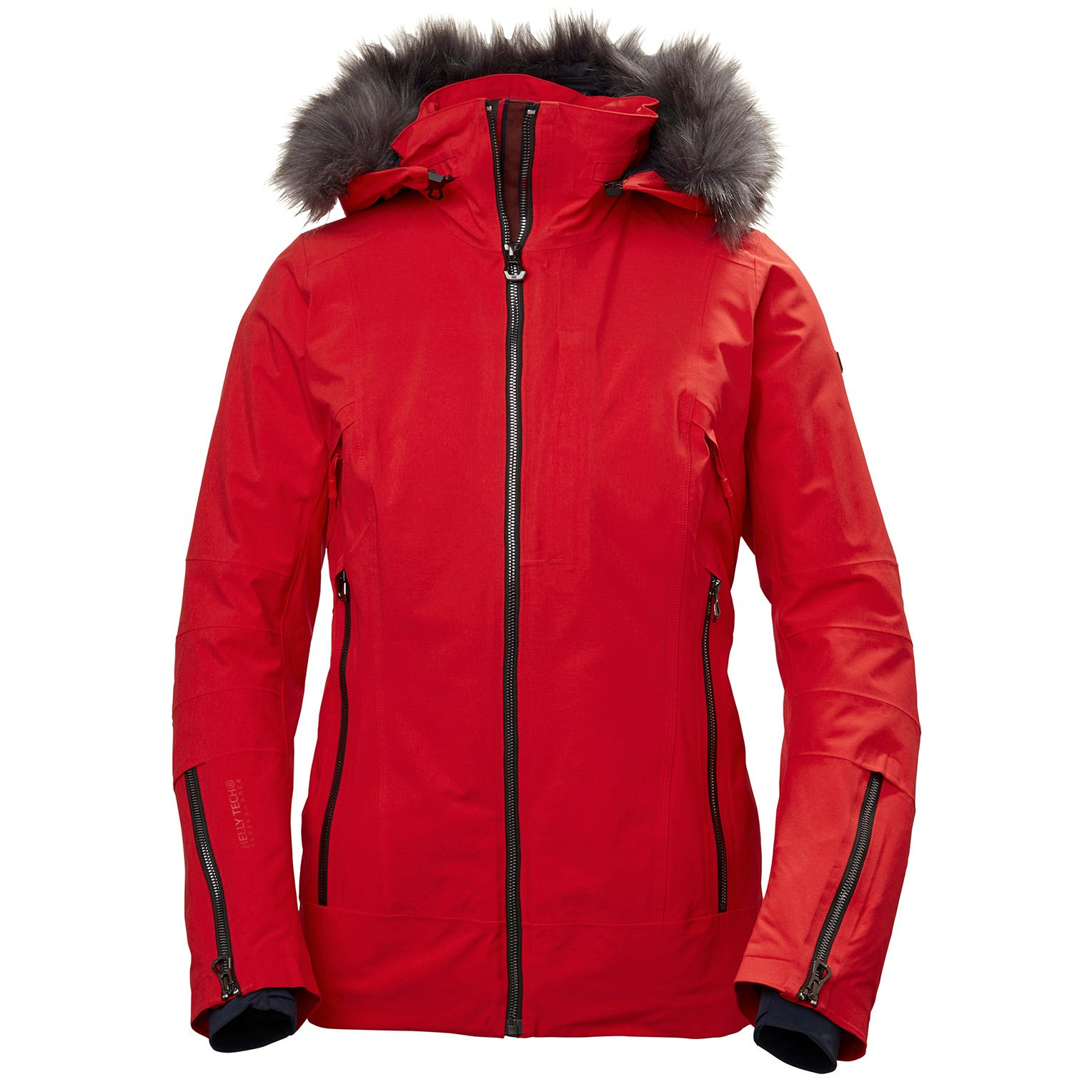 Womens Snowdancer Ski Jacket With Faux Fur Hood | Helly Hansen Womens Red XS