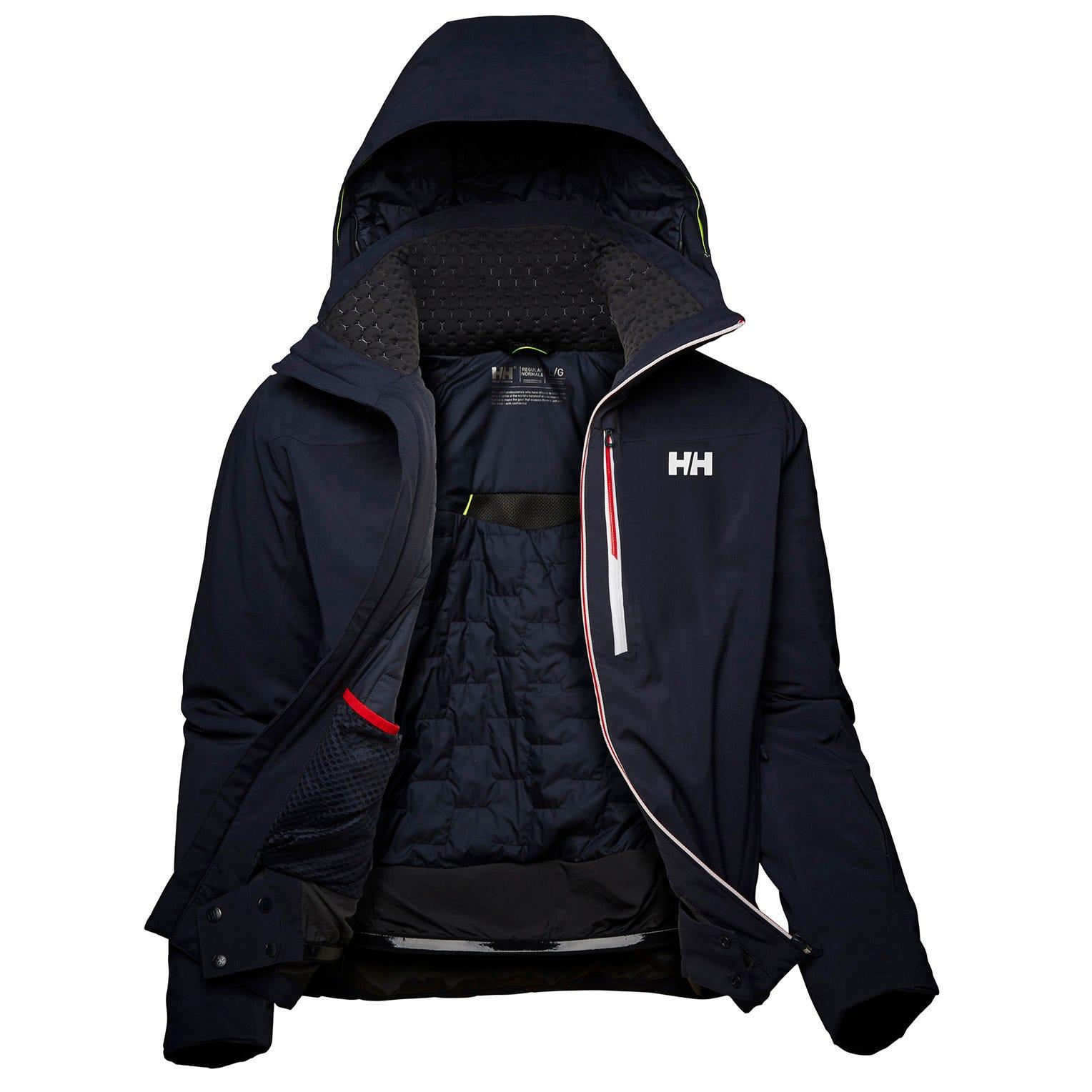 Helly Hansen Mens Alpha Lifaloft Lightweight Ski Jacket Navy M