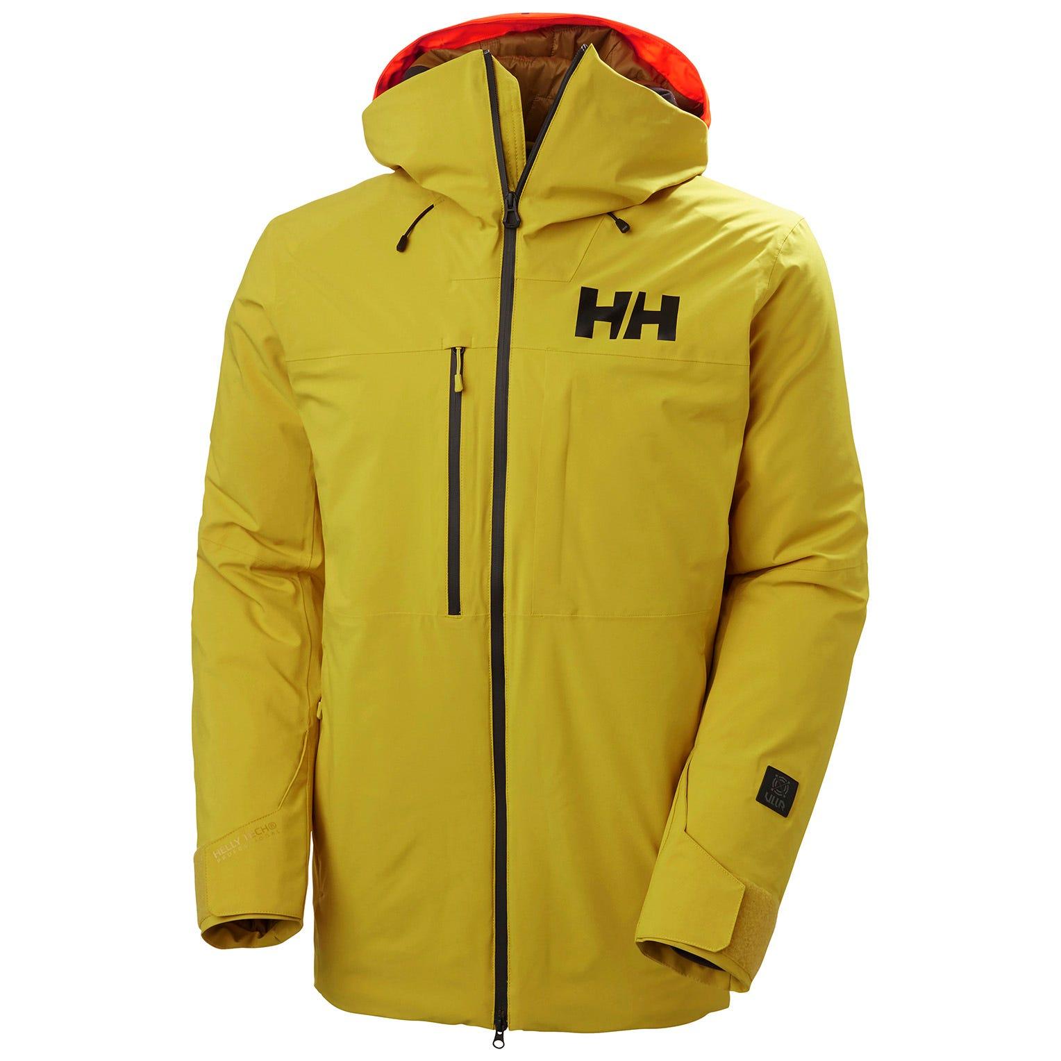 Helly Hansen Mens Firsttrack Lifaloft Light Ski Jacket Yellow M