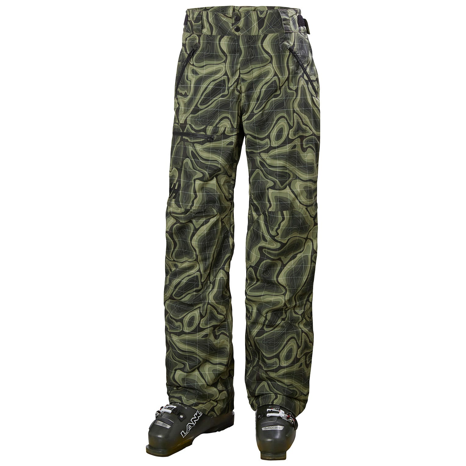 Mens Sogn Insulated Cargo Ski Trousers | Helly Hansen Mens Trouser Green L