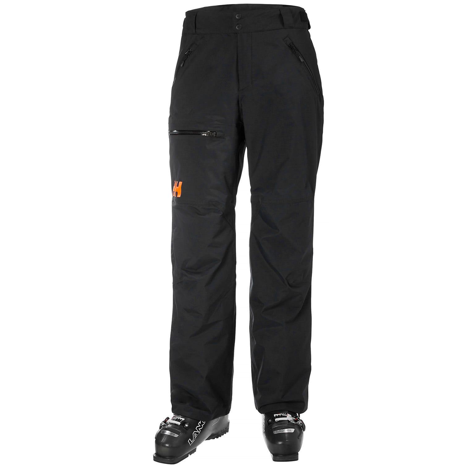 Mens Sogn Insulated Cargo Ski Trousers | Helly Hansen Mens Trouser Black XXL