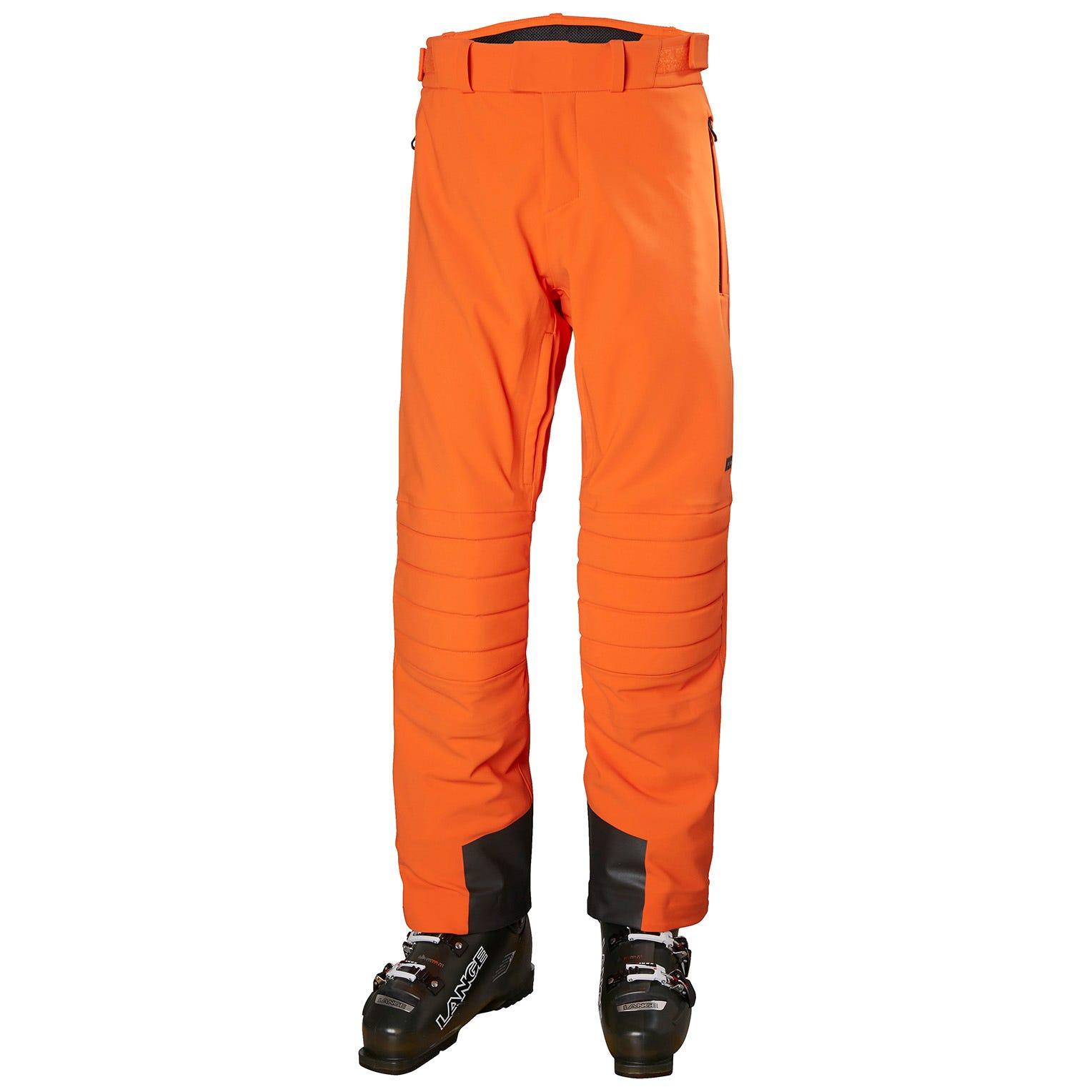 Helly Hansen Mens Russi Softshell Stretch Ski Trousers Orange XL