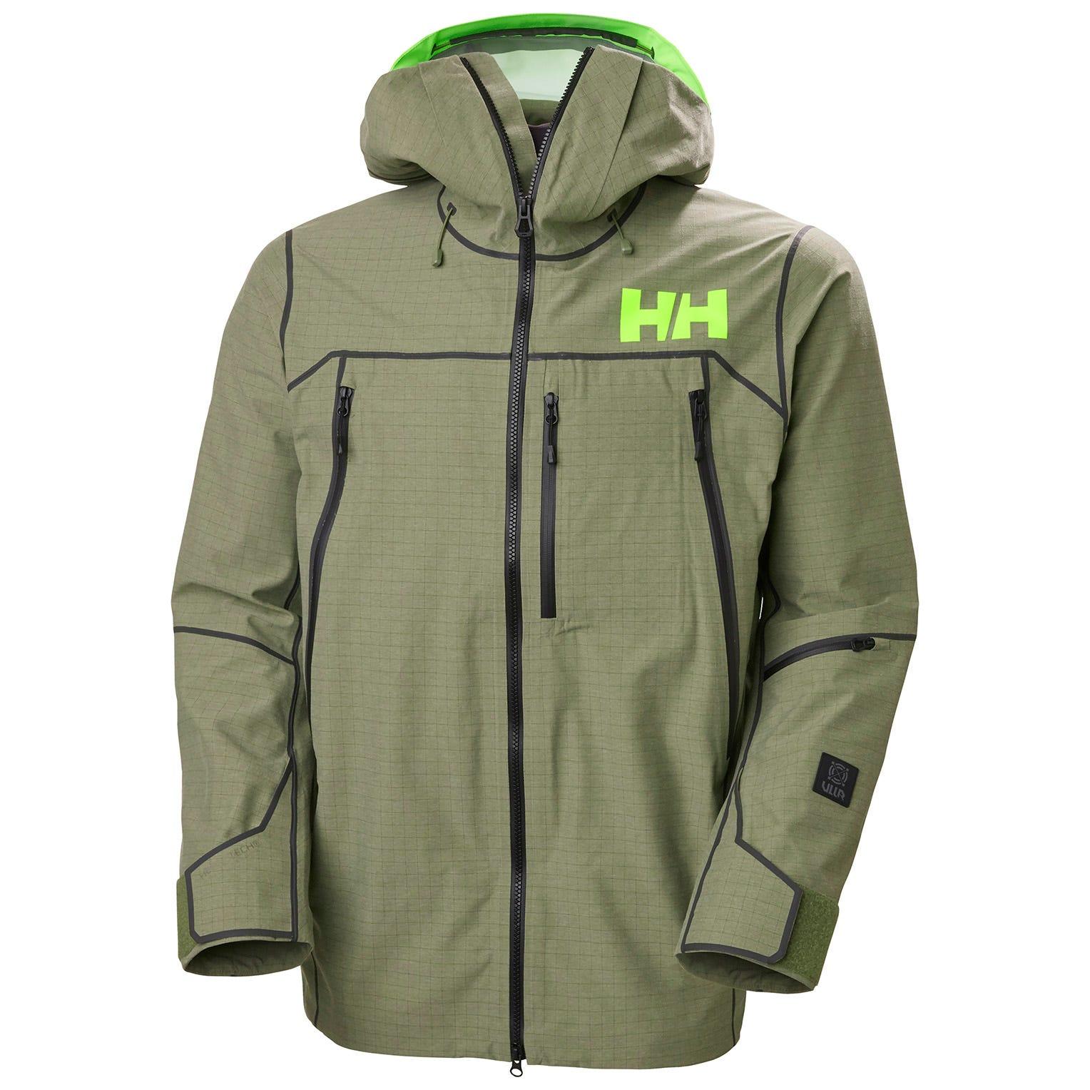 Helly Hansen Mens Elevation Shell 3.0 Mountain Ski Jacket Green XL