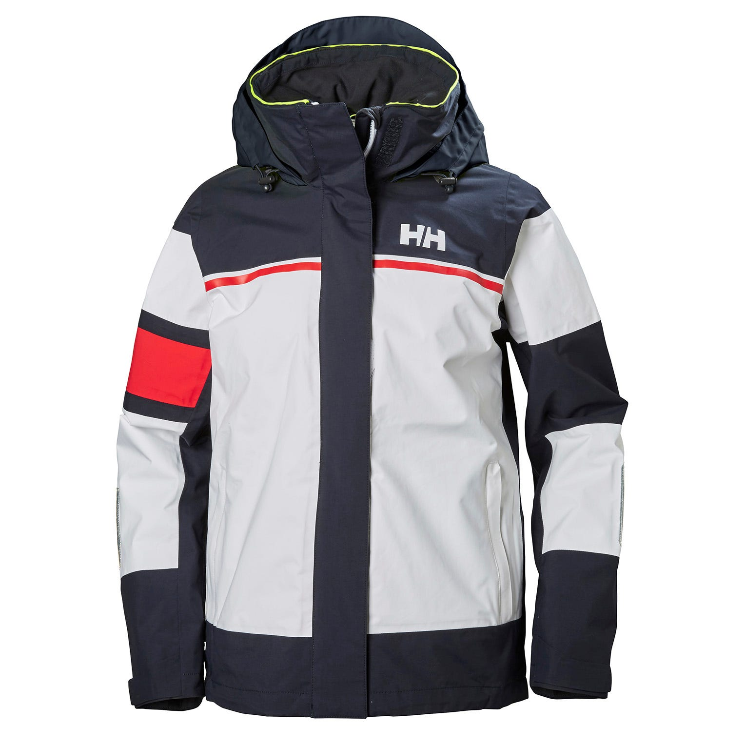W Salt Light Jacket | Stripet Seilejakke Med HH Flagg For