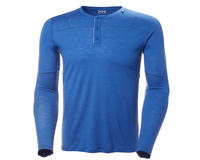 HH MERINO LIGHT BUTTON LS
