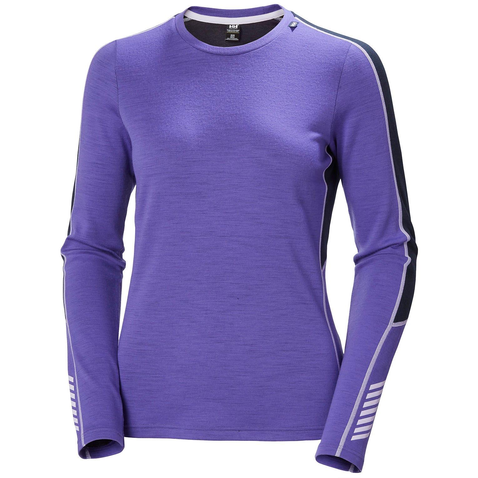 Helly Hansen Womens LIFA Merino Midweight Crew Ls T-Shirt