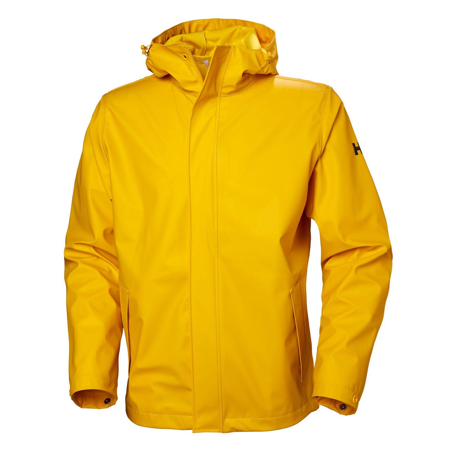 Helly-Hansen mens Moss Long Hooded Fully Waterproof Windproof Raincoat Jacket