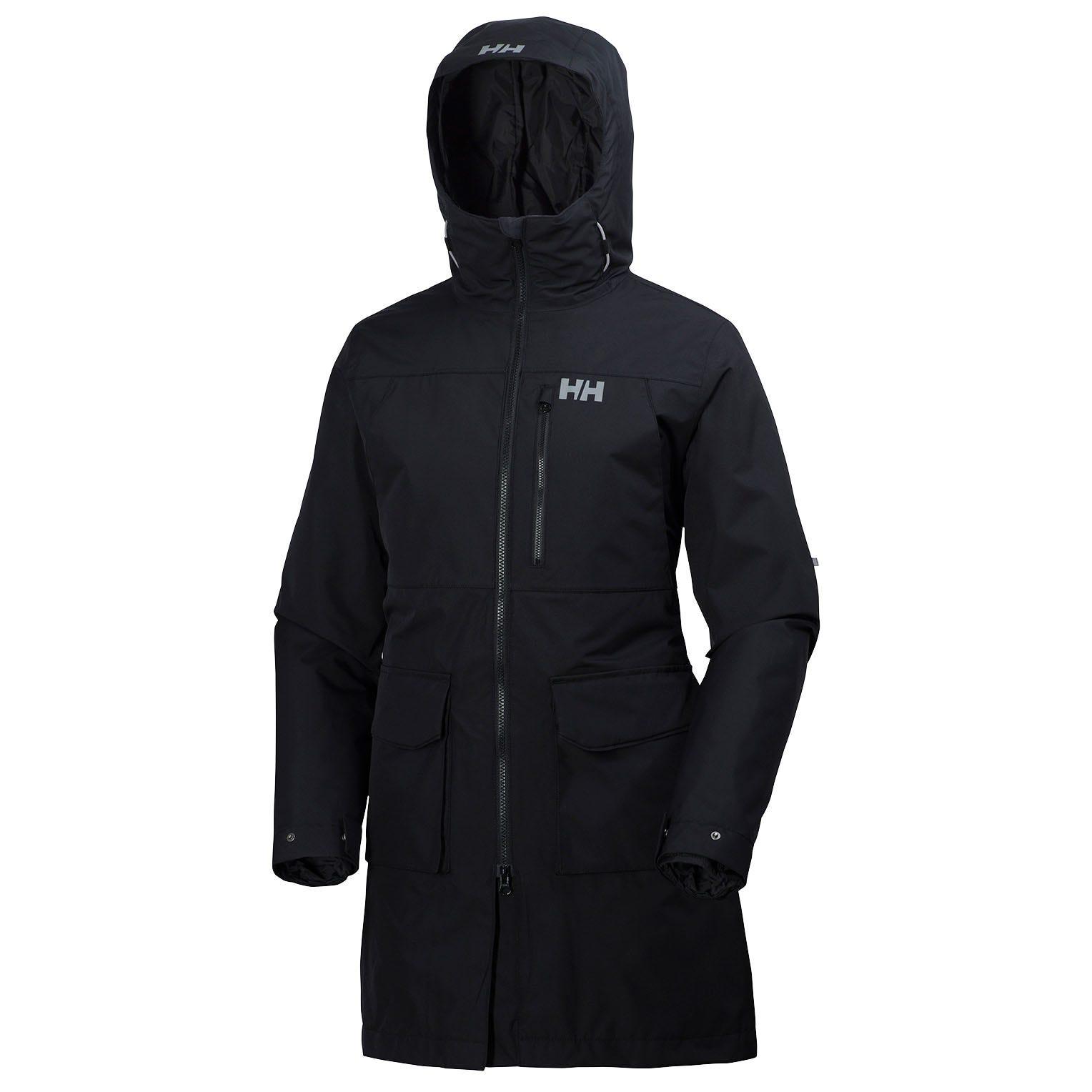 Helly-Hansen Womens Rigging Waterproof Breathable Rain Coat Jacket with Hood