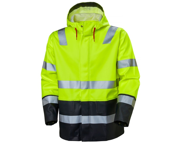 ALNA HIGH VIS WORK RAIN JACKET
