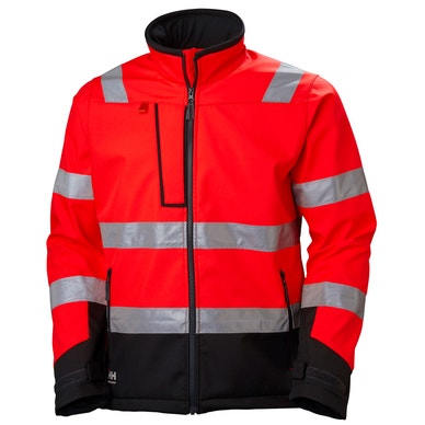 ALNA COMFORTABLE HIGH VIS SOFTSHELL JACKET