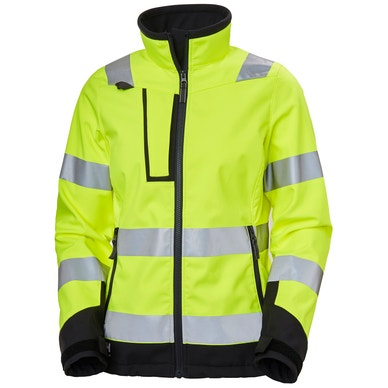 WOMEN'S LUNA HIGH VIS SOFTSHELL WORK JACKET