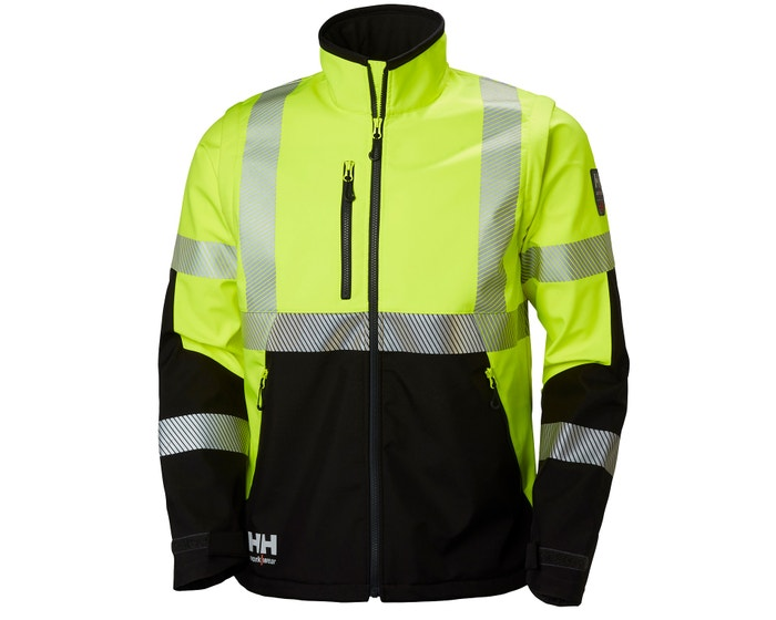ICU FLEXIBLE HIGH VIS  CLASS 3 SOFTSHELL JACKET