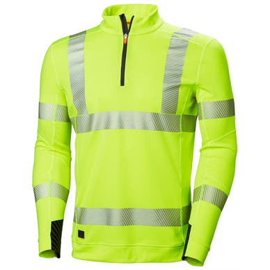 LIFA HIGH VIS QUARTER-ZIP WORK BASELAYER
